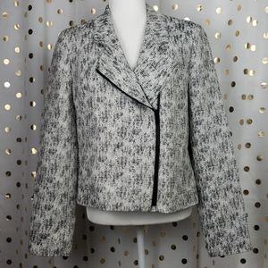 Classiques Entier Black/White Tweed Zipped Blazer